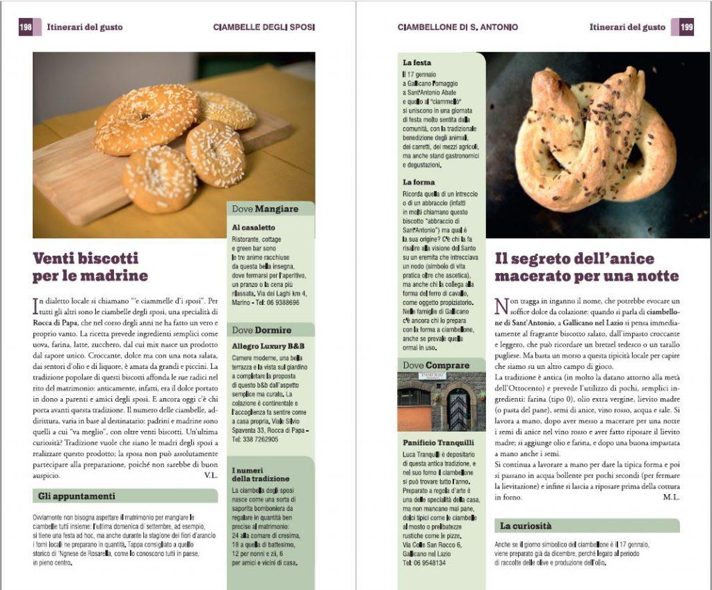 Alcune delle ricette e dei prodotti tipici segnalati nella guida