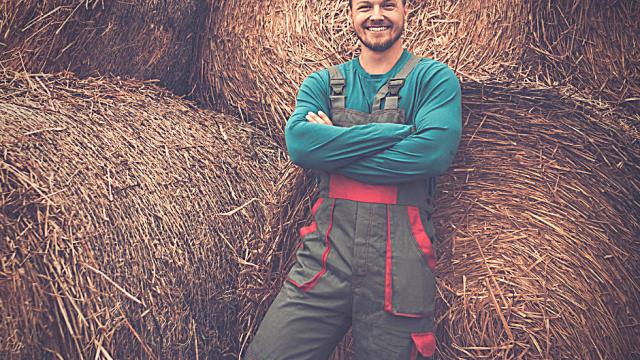Giovane imprenditore agricolo